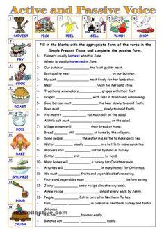 linguistic pattern of active and passive voice passive voice see link to language activities who r