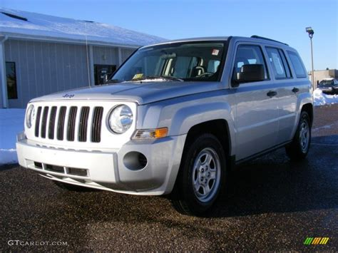 silver jeep patriot 2008 bright silver metallic jeep patriot sport 25964832