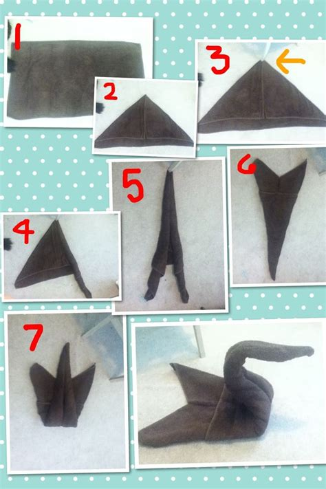 How To Fold A Paper Towel - 13 best swan towels images on towel animals