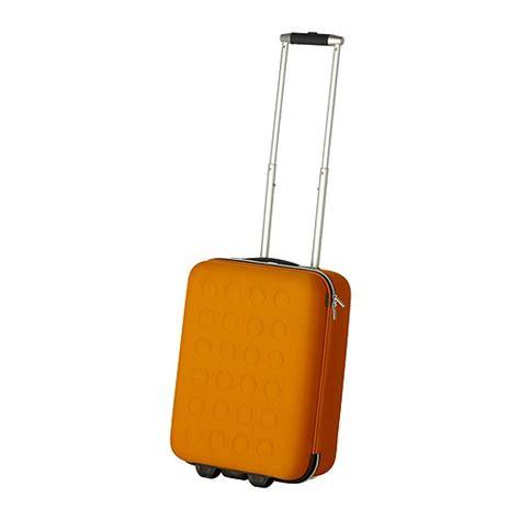 uppt 196 cka bagage cabine 224 roulettes jaune orange ikea
