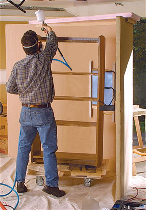 woodworking spray booth make a simple spray booth finewoodworking
