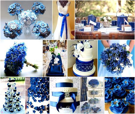 cobalt & silver wedding centerpieces   Google Search