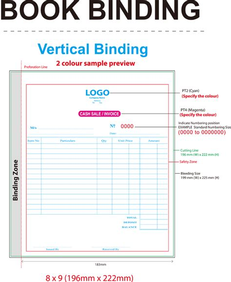 book layout sles download ncr bill book template