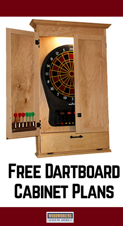 build  simple dartboard cabinet woodworking projects