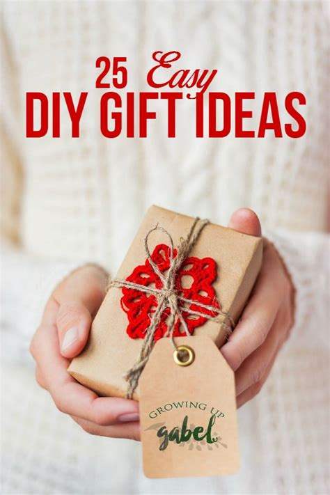 easy diy gifts 25 easy diy gift ideas for everyone