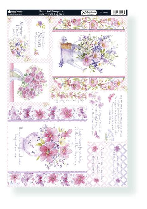 card toppers floral beautiful bouquets kanban card toppers 1940