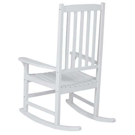 best choice products white wood porch rocker rocking chair