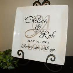 Personalized Wedding Gift Plate Anniversary Gift For by