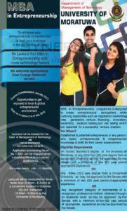Mba In Entrepreneurship In India by Mba In Entrepreneurship From Of Moratuwa