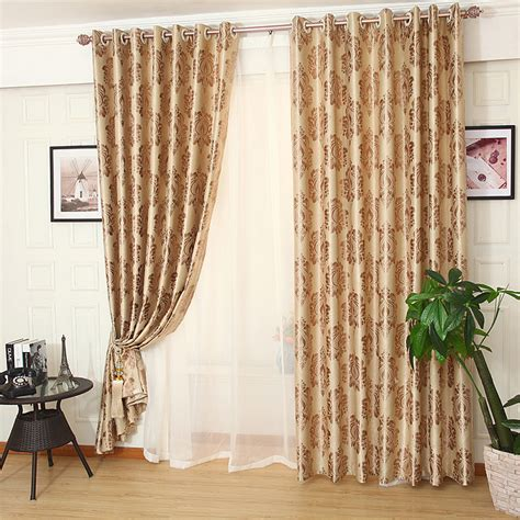 bedroom curtains on sale gold patterned jacquard polyestser luxury bedroom curtains
