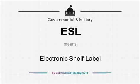 What Is The Meaning Of Shelf by Esl Electronic Shelf Label In Government By
