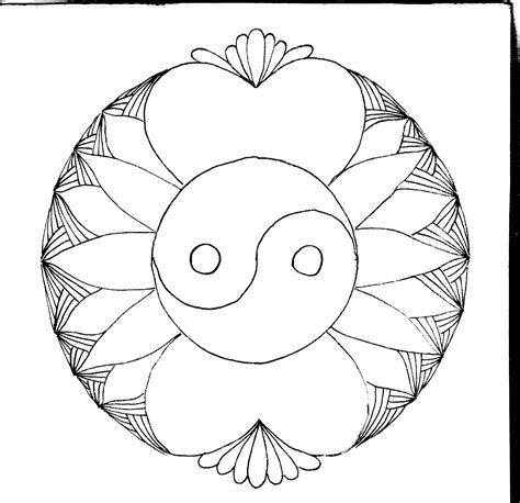 Free Coloring Pages Of Yinyang Coloring Pages Yin Yang