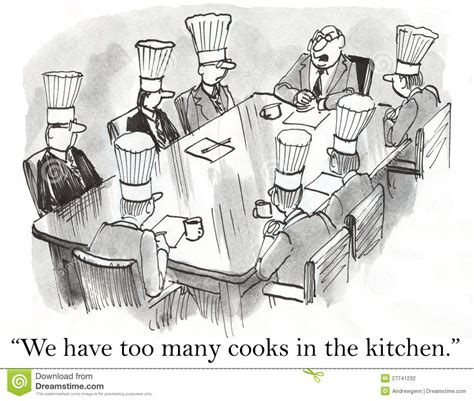 Kitchen Settings Design by We Have Too Many Cooks In The Kitchen Stock Photography