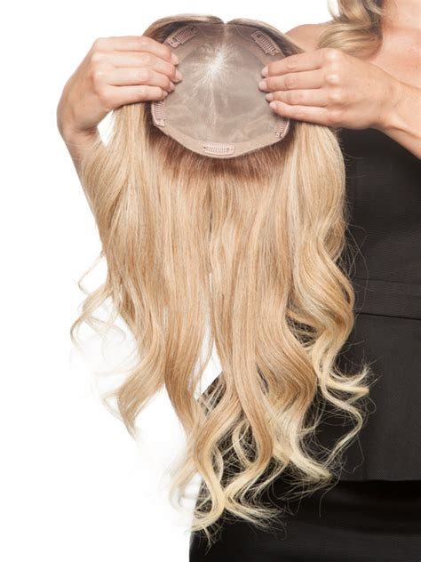 thinning hair hairpieces hair toppers hair pieces for jon renau 18 quot top form remy human hair double monofilament top piece wigs com the wig
