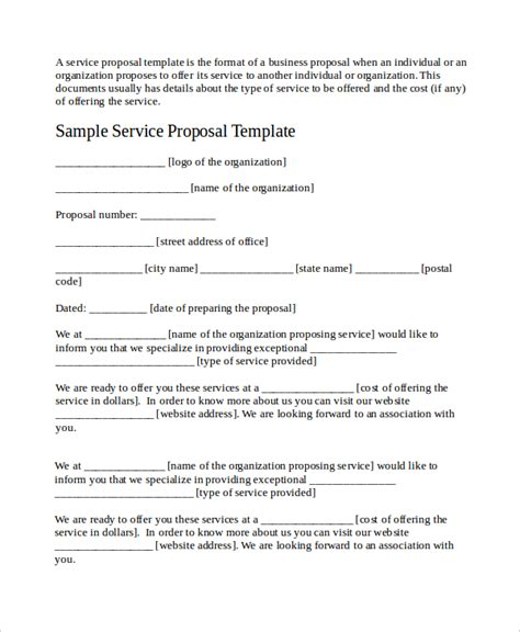 Service Proposal Template 14 Free Word Pdf Document Downloads Free Premium Templates Business Service Template