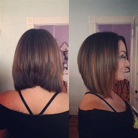 cute shoulder length haircuts longer in front and shorter in back a line graduated bob new look for fall hair makeover
