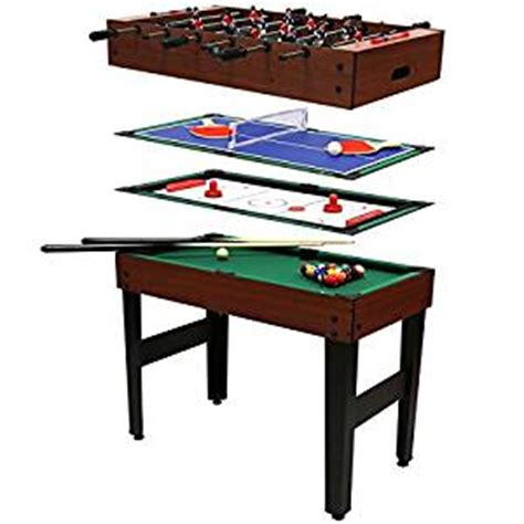 air hockey ping pong table amazon table 4 jeux en 1 billard babyfoot hockey de table et