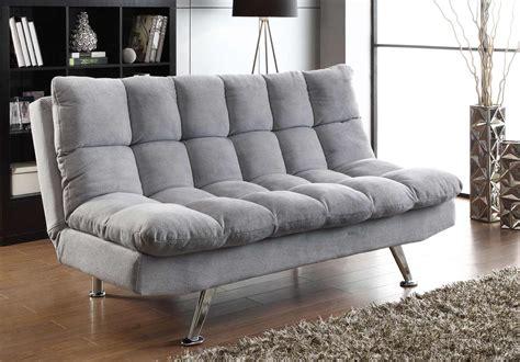 coaster sofa bed coaster 500775 sofa bed grey chrome 500775 at