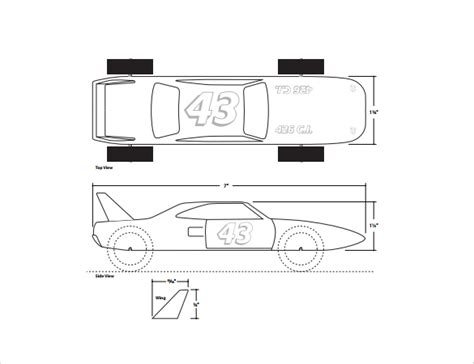 pinewood derby templates 11 download documents in pdf