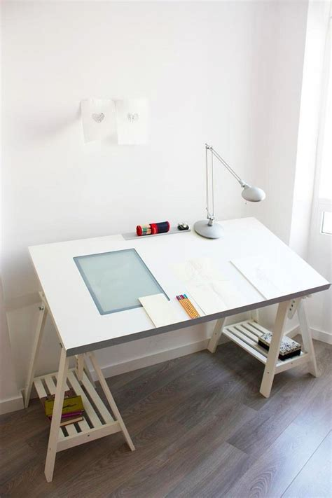 drawing desk with lightbox ikea vika blecket table top intigrated lightbox office