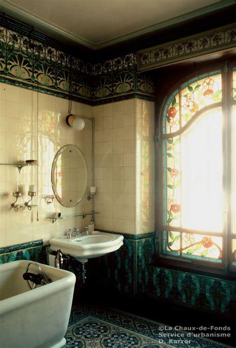 salle de bains  french art nouveau bathroom