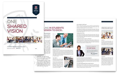 school brochures templates high school brochure template design