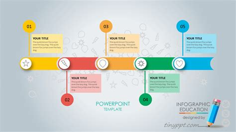 Free Online Design Software zig zag process flow powerpoint and keynote template best
