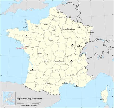 l map road map noirmoutier en l ile maps of noirmoutier en l 206 le 85330