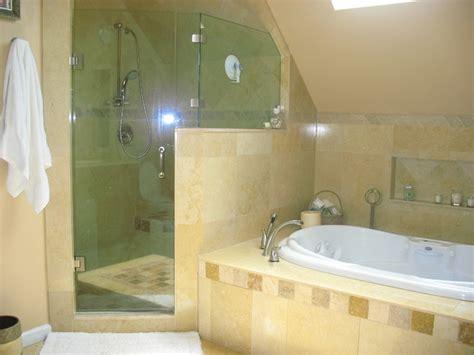 shower jacuzzi tub mediterranean bathroom  york