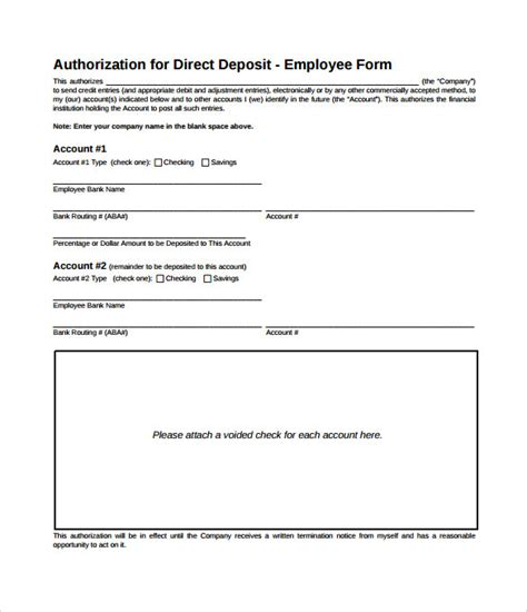 Authorization Letter Sle For Bank Bank Authorization Letter For Direct Deposit 28 Images Free U S Bank Direct Deposit