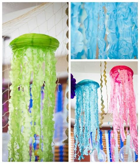 Diy Jellyfish Decorations by The Sea Mermaid Birthday Paper Lanterns