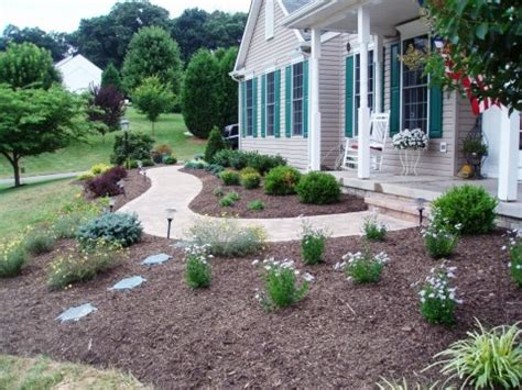 easy landscaping for front walkway house pinterest