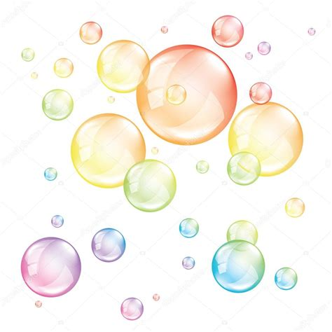 colored bubbles colored bubbles isolated on white vector stock vector