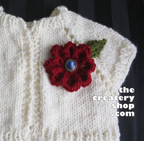 pattern for simple knitted flower the createry shop easy elegant flower to knit not