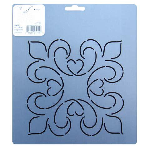 quilting templates uk hw55 elegance block quilting stencils 6 inch