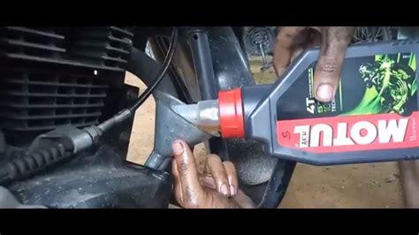 motul engine oil change   engine oil flush  honda cb unicorn youtube