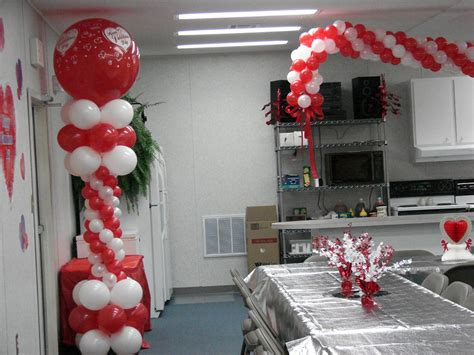 church sweetheart banquet valentine balloon decor