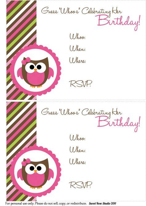 free birthday invitation templates printable best party ideas
