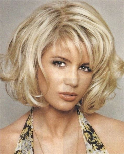 chin length blonde haircuts chin length bob with thick bangs short hairstyle 2013