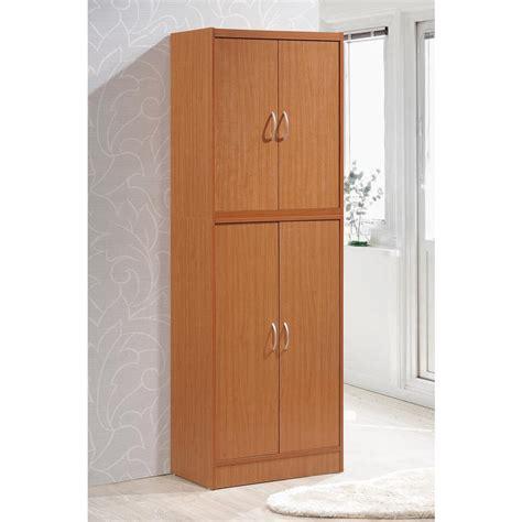 hodedah 4 door hodedah 4 door cherry red kitchen pantry shop your way