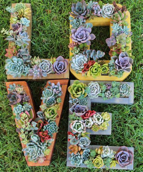 monogram planter l o v e monogram succulent planter set 4 pieces