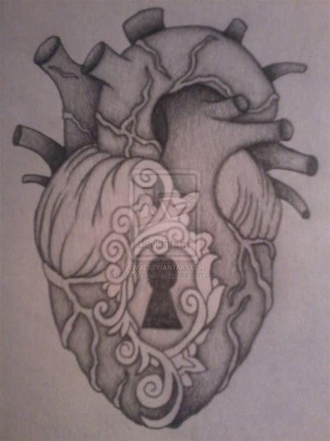 anatomical heart tattoos anatomical locket by missangelinar on deviantart