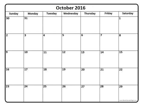 calendar template free printable october 2016 calendar october 2016 calendar printable