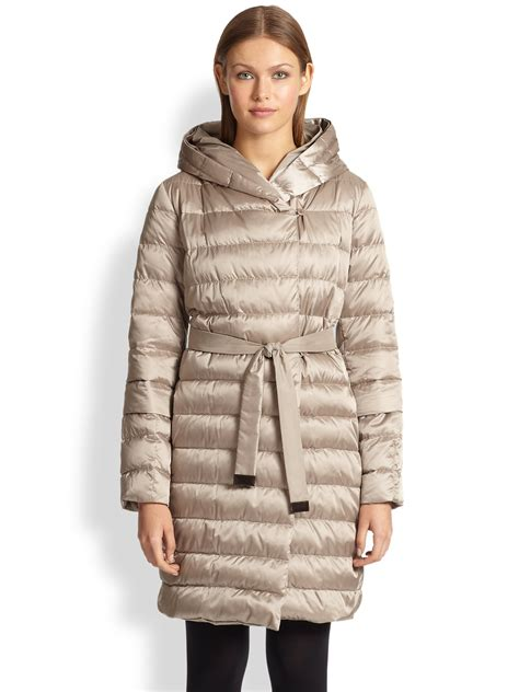 Reversible Puffer Jacket lyst max mara reversible cube puffer jacket in