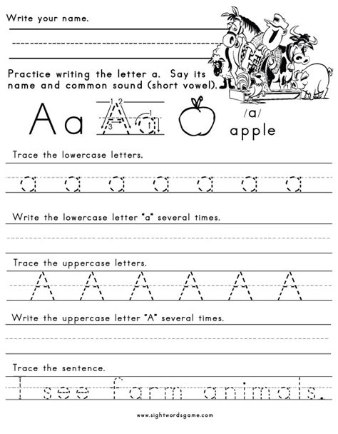 learning to write alphabet templates letter a worksheet 1 letters of the alphabet