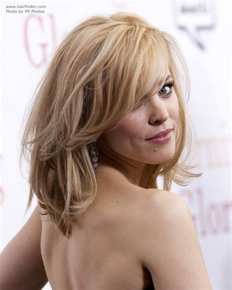 modern rachel hairstyle rachel mcadams with her hair styled over one of her eyes
