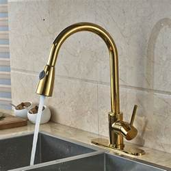 gold kitchen sink columbine gold finish kitchen sink faucet with pull out