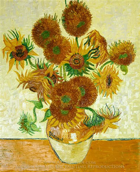 Fourteen Sunflowers In A Vase by Flower Vase Painting Www Pixshark Images