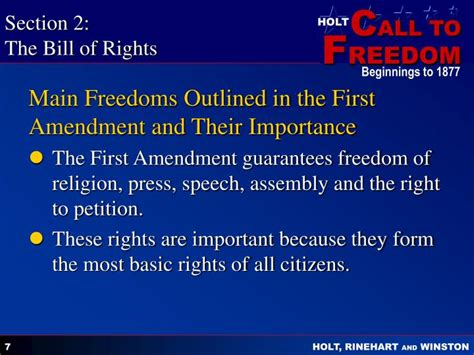 section 3 bill of rights explanation ppt citizenship and the constitution 1787 present