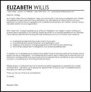 Fraud Investigator Cover Letter Sample Livecareer